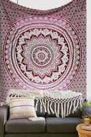 Indian Flat sheet Mandala Cotton Bedspreads Queen Size Bed sheet Bedding Cover