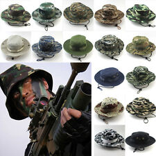 Chic Mens Military Hats Bucket Wide Brim Outdoor Caps Boonie Hunting Fishing Sun
