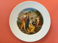 ANTIQUE ROYAL VIENNA HAND PAINTED PORCELAIN PLATE FROM 19 CENTURY.MARKED.