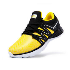 ONEMIX Men Casual Running Shoes Sports Sneakers Black Yellow Size 6.5/7/8/8.5