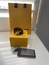 Fendi Leather And Gold Tone Wrap Bracelet Size Medium