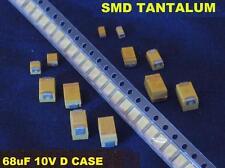 SMD 68uF 68 uF 10v D Case Tantalum Capacitor (100 Pcs) *** NEW ***