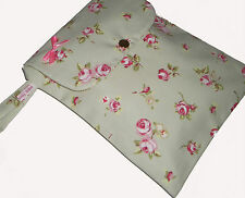 Baby Shabby Chic Pink Rose Diaper Nappy & Wipes Changing Travel Gift Bag -
