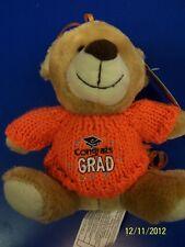 Grad Bear Balloon Bouquet Graduation Party Gift Stuffed Animal Teddy - Orange