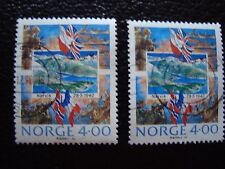 NORVEGE - timbre yvert et tellier n° 1000 x2 obl (A30) stamp norway (A)