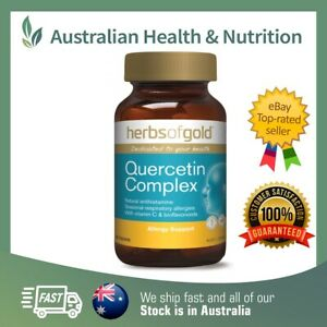HERBS OF GOLD QUERCETIN COMPLEX 60T // ANTI-HISTAMINE + FREE SAME DAY SHIPPING
