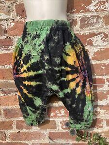 Childrens hippie/boho/festival Tie Dye Pants Trousers baggy/harem 3-5 years