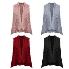 Women Fashion Fur Body Warmer Vest Waistcoat Gilet Ladies Casual