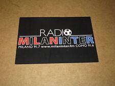 CARTOLINA RADIO MILAN INTER FM 91,7 MILANO 91,6 COMO