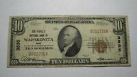 $10 1929 Wapakoneta Ohio OH National Currency Bank Note Bill Ch. #3535 FINE!