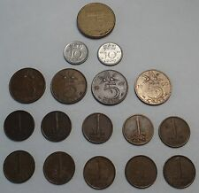 World Coins Netherlands 1948-1976:  1 Cent, 5 Cents, 10 Cents, 5G