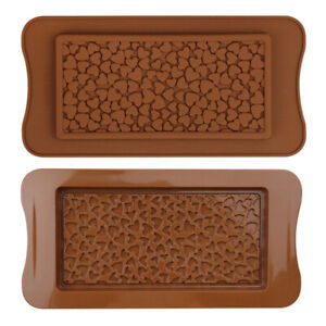 Silicone Molds Love Hearts Shaped Chocolate Ice Jelly Mould Snap Wax DIY Tools