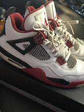 915af6a138be Air Jordan 4 Retro Mars Blackmon White Varsity Red Size 10.5