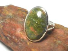 UNAKITE   Sterling  Silver  925  Gemstone  RING  - Size : J  -  Gift  Boxed