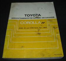 Werkstatthandbuch Toyota Corolla AE80 / AE 82 / CE 80 Stand April 1983!