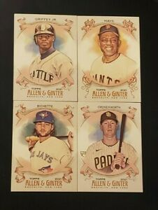 2021 Topps Allen & Ginter Base Cards 1-250 with Rookies You Pick