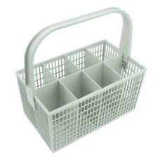 8 Compartment White Cutlery Basket Cage for Zanussi AEG Dishwasher 237 x 137mm