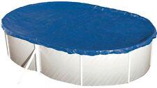 Pool Abdeckplane Oval mit 70cm Übermaß Poolabdeckung 5,5 X 3,6m