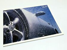 2002 Mercedes-Benz SLK-Class SLK 230 Kompressor SLK 320 SLK 32 AMG R170 Brochure