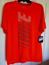 Nike Performance Camiseta Cuello Redondo Naranja Medio poliéster NUEVO