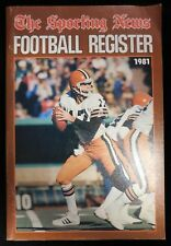"""The Sporting News Football Register 1981 Paperback Book """"Brian Sipe"""" Browns"""