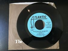 PROMO 45 Carillo - What'd You Light the Fire With ~ 1978 Atlantic  NM