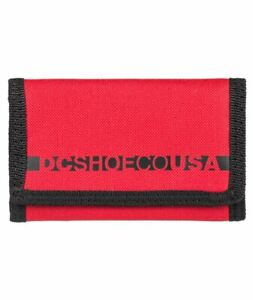 DC Shoes Trifold Wallet ~ Ripstop red
