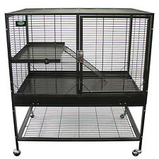 Mansion Cage (2-Level) - for Chinchillas, Hedgehogs, Rats, Ferrets, Degus