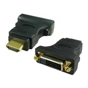 DVI To HDMI Adaptor DVI-D Digital Monitor Cable Lead Converter Adapter GOLD