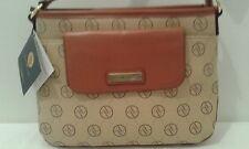Adrienne Vittadini Crossbody Shoulder Bag Logo Tan/Cognac NEW $128     (T019K)