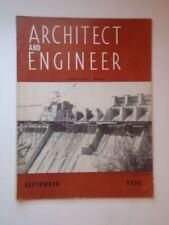Sept 1955 Architect and Engineer San Francisco CA Berkley Stanford Palo Alto