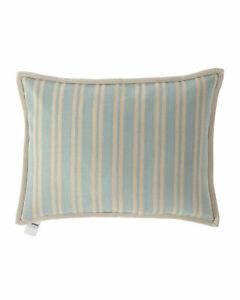 Ralph Lauren Constantina Bretton Stripe Decorative Pillow 15X20 Teal Beige Linen