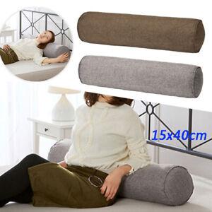 Long Orthopaedic Bolster Pillow Cotton Linen Nursing Roll Neck Cushion Headrest