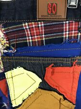 SoSoo Jeans Womens 30 Jeans With Button Fly And Patchwork Multicolor