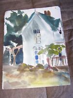 "Original Watercolor by Peg Humphreys Old House 15"" x 11"""