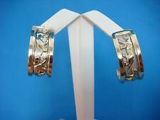 ! STUNNING 18K SOLID GOLD LARGE 2 TONE PANTHER DANGLE EARRINGS 33.8 GRAMS