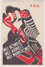 More details for spain spanish civil war p.s.u. homes armes iconic republican propaganda pc sp20