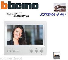 """MONITOR 7"""" AGGIUNTIVO 330851 X VIDEOCITOFONO 315511-315311 BTICINO VIVAVOCE COL"""