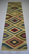 Handmade Vintage Kilim Rug Multi Color Retro 2'5''x8' Feet Large Runner DN-1850