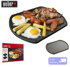 Weber BBQ Reversable Breakfast Plate Baby Q Cast Iron Cooking Plate Camping