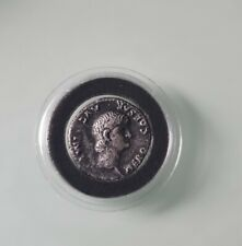 More details for nero 54 -68 ad coin denarius very scarce young bare head vf