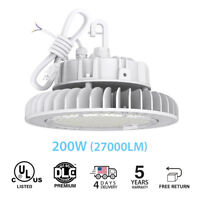 200W 5000K UFO LED High Bay Warehouse Lights dimmable IP65 factory shop lighting