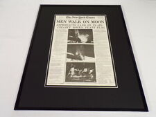 New York Times July 21 1969 Framed 16x20 Front Page Poster Apollo 11 on Moon