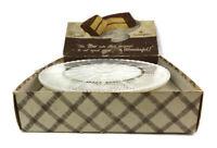 Vintage Anchorglass Anchor Hocking Ivory White Milk Glass 22K Gold Cake Plate