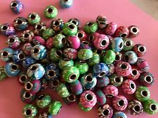 EUROPEAN BEADS BIG HOLE BRASS CORE FINDINGS SPACERS CHARMS JEWELRY MAKING