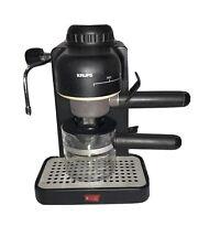 Krups 963 Espresso Mini 4-Cup Maker Cappuccino Machine Black TESTED & WORKS