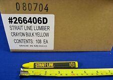 Lot of 12 Yellow STRAIT LINE Lumber Crayons