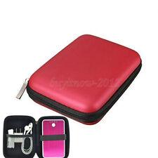 2.5 Zoll HDD Hardcase Tasche für externe Festplatte Schutzhülle für PC  in Rot