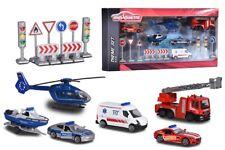 MAJORETTE 212058587-Big S.O.S. Theme Set - 6 veicoli e 8 cartelli-NUOVO