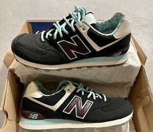 New Balance 574 Luau Classics Running Shoes ML574ILC Teal Men's Size US 10